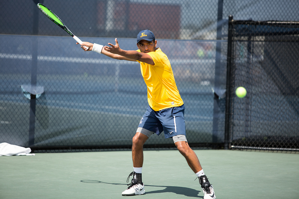 April 14, 2017 - Johnson City, Tennessee - Dave Mullins Tennis Complex: Diego Nunez<br /> <br />  Image Credit: Dakota Hamilton/ETSU