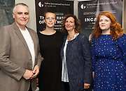 18/07/2018 repro free:  Paul Fahy GIAF with Emily and Jane Powers and Jen Coppinger producer  at the world premiere of Incantata by Paul Muldoon starring Stanley Townsend and directed by Sam Yates. Incantata is a Galway International Arts Festival and Jen Coppinger production and is now on at the Town Hall Theatre, Galway until Friday July 27as part of GIAF18. Incantata is a deeply moving rollercoaster ride of a show starring one of Ireland's leading actors.  Photo:Andrew Downes, XPOSURE