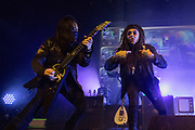 Ministry perform on December 20, 2018 at the Regent Theatre in Los Angeles, California (Photo: Charlie Steffens/Gnarlyfotos)