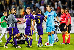 Jasmin Handanovic #33 of NK Maribor and Blaz Vrhovec #5 of NK Maribor, Jasmin Mesanovic #27 of NK Maribor , Aleks Pihler #6 of NK Maribor during 1st Leg football match between NK Maribor (SLO) and FH Hafnarfjordur (ISL) in Third qualifying round of UEFA Champions League 2017/18, July 26, 2017, in Stadium Ljudski vrt, Maribor, Slovenia. Photo by Grega Valancic / Sportida
