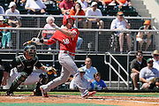 March 8, 2009: Wade Moore of the North Carolina State Wolfpack in action during the NCAA baseball game between the Miami Hurricanes and the North Carolina State Wolfpack. The 'Canes defeated the Wolfpack 9-7.