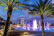Friendship Fountain on Jacksonville Florida's south bank.
