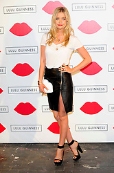 """Lulu Guinness Paint Project.<br /> Laura Whitmore attends the """"Lulu Guinness paint project in collaboration with beautiful crime and their artist Joseph Steele"""" Held at the old sorting office, Oxford street,<br /> London, United Kingdom<br /> Thursday, 11th July 2013<br /> Picture by Chris  Joseph / i-Images"""
