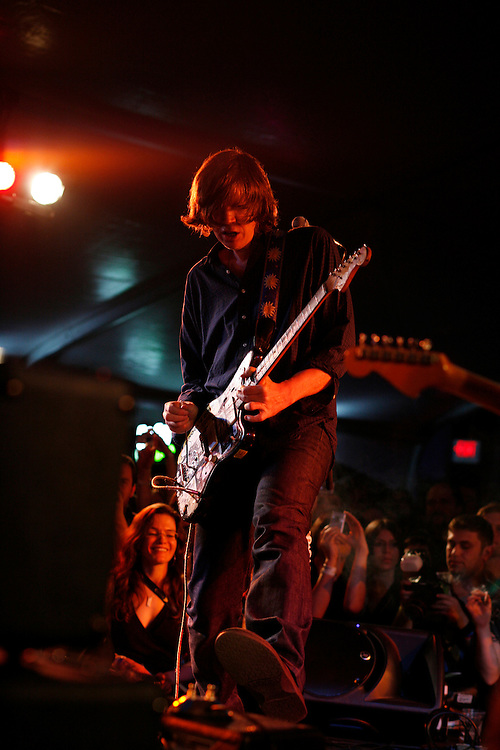 Thurston Moore performs at the Levi/FADER Fort during a tribute to Lou Reed at the 2008 SXSW music festival in Austin, TX.