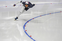 February 23, 2018 - Pyeongchang, Gangwon, South Korea - Shani Davis of  United States and Takuro Oda of  Japan at 1000 meter speedskating at winter olympics, Gangneung South Korea on February 23, 2018. (Credit Image: © Ulrik Pedersen/NurPhoto via ZUMA Press)