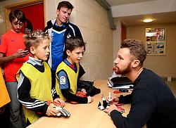 Matt Taylor signs autographs for children taking part in the Bristol Rovers Half Term Holiday Camp - Mandatory by-line: Robbie Stephenson/JMP - 27/10/2016 - FOOTBALL - Magotsfield School - Bristol, England - Bristol Rovers Half Term Holiday Camp