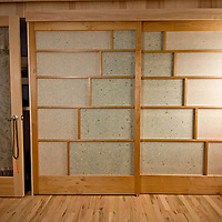 Shoji screen doors<br /> Alder and custom paper<br /> handcrafted for the most amazing customized trailer home in Boulder, Co.