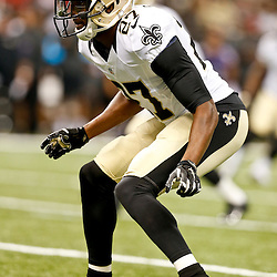 Aug 28, 2014; New Orleans, LA, USA; New Orleans Saints cornerback Champ Bailey (27) against the Baltimore Ravens during the first quarter of a preseason game at Mercedes-Benz Superdome. Mandatory Credit: Derick E. Hingle-USA TODAY Sports