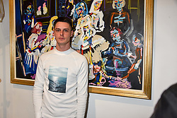 Danny Baldwin at a private view of work by Bradley Theodore entitled 'The Second Coming' at the Maddox Gallery, 9 Maddox Street, London England. 19 April 2017.