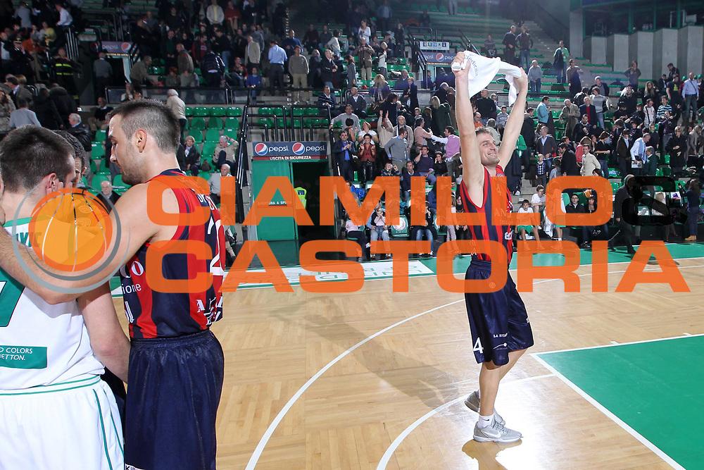 DESCRIZIONE : Treviso Lega A 2011-12 Benetton Treviso Angelico Biella<br /> GIOCATORE : Jurak Goran<br /> SQUADRA : Benetton Treviso Angelico Biella<br /> EVENTO : Campionato Lega A 2011-2012 <br /> GARA : Benetton Treviso Angelico Biella<br /> DATA : 26/11/2011<br /> CATEGORIA : Esultanza<br /> SPORT : Pallacanestro <br /> AUTORE : Agenzia Ciamillo-Castoria/G.Contessa<br /> Galleria : Lega Basket A 2011-2012 <br /> Fotonotizia : Treviso Lega A 2011-12 Benetton Treviso Angelico Biella<br /> Predfinita :