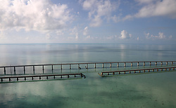 September 13, 2017 - Duck Key, Florida, U.S. - There was virtually no traffic on the 7 mile bridge after Hurricane Irma hit the Florida Keys.  (Credit Image: © Sun-Sentinel via ZUMA Wire)