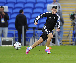 Real Madrid's James Rodriguez - Photo mandatory by-line: Joe Meredith/JMP - Mobile: 07966 386802 11/08/2014 - SPORT - FOOTBALL - Cardiff - Cardiff City Stadium - Real Madrid v Sevilla - UEFA Super Cup - Press Conference and Open Training session