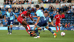 Tammy Abraham of Bristol City scores a goal against Wycombe Wanderers in the EFL League Cup - Mandatory by-line: Robbie Stephenson/JMP - 09/08/2016 - FOOTBALL - Adams Park - High Wycombe, England - Wycombe Wanderers v Bristol City - EFL League Cup