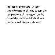 Ukraine - Conflict Elections