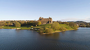 Linlithgow Palace, on Linlithgow Loch, built 15th century under king James I, and rebuilt 1618-22 by king James VI, a royal palace and residence for Scottish monarchs, in West Lothian, Scotland. Mary Queen of Scots was born here. The palace was a resting place for Stuart royalty travelling between Edinburgh and Stirling. The Renaissance style palace was burned in 1746 and has since been restored and is now run by Historic Environment Scotland. Picture by Manuel Cohen