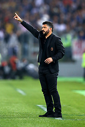 May 9, 2018 - Rome, Italy - Gennaro Gattuso manager of Milan  during the TIM Cup Final between Juventus and AC Milan at Stadio Olimpico on May 9, 2018 in Rome, Italy. (Credit Image: © Matteo Ciambelli/NurPhoto via ZUMA Press)