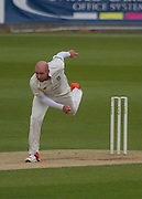 Chris Rushworth (Durham County Cricket Club) in action during the LV County Championship Div 1 match between Durham County Cricket Club and Hampshire County Cricket Club at the Emirates Durham ICG Ground, Chester-le-Street, United Kingdom on 2 September 2015. Photo by George Ledger.