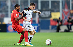 20.10.2016, Red Bull Arena, Salzburg, AUT, UEFA EL, FC Red Bull Salzburg vs OGC Nizza, Gruppe I, im Bild Paulo Miranda (FC Red Bull Salzburg), Remi Walter (OGC Nice) // Paulo Miranda (FC Red Bull Salzburg), Remi Walter (OGC Nice) during the UEFA Europa League group I match between FC Red Bull Salzburg and OGC Nizza at the Red Bull Arena in Salzburg, Austria on 2016/10/20. EXPA Pictures © 2016, PhotoCredit: EXPA/ JFK