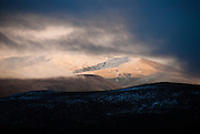 Howgill Fells in winter from Shap summit