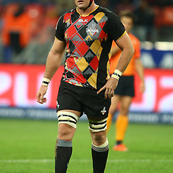 PORT ELIZABETH, SOUTH AFRICA - MAY 27: Steven Sykes (captain) of the Southern Kings during the Super Rugby match between Southern Kings and Jaguares at Nelson Mandela Bay Stadium on May 27, 2016 in Port Elizabeth, South Africa. (Photo by Steve Haag/Gallo Images)