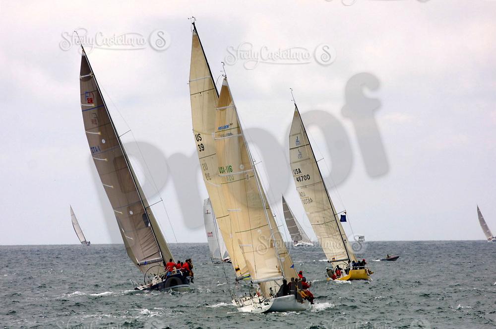 Apr 26, 2002; Newport Beach, California, USA; The start of the 55th annual 125 mile Newport to Ensenada Yacht Race.<br />Mandatory Credit: Photo by Shelly Castellano/ZUMA PRESS.<br />(&copy;) Copyright 2002 by Shelly Castellano