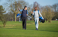 ARNHEM - Atleet Churandy Martina , sprinter op de golfbaan met les van Thomas IJland, voor Golf.nl COPYRIGHT KOEN SUYK