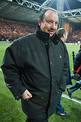 PRESTON, ENGLAND - Saturday, January 3, 2009: Liverpool's manager Rafael Benitez returns to the dugout for the first time following an operation on kidney stones, for the FA Cup 3rd Round match against Preston North End at Deepdale. (Photo by David Rawcliffe/Propaganda)