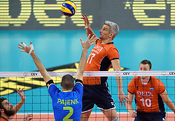 Rob Bontje #17 during volleyball match between National teams of Netherlands and Slovenia in Playoff of 2015 CEV Volleyball European Championship - Men, on October 13, 2015 in Arena Armeec, Sofia, Bulgaria. Photo by Ronald Hoogendoorn / Sportida