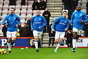 Morgan Schneiderlin, Wayne Rooney (10) of Everton, Michael Keane (4) of Everton and Cuco Martina (15) of Everton warming up before the Premier League match between Bournemouth and Everton at the Vitality Stadium, Bournemouth, England on 30 December 2017. Photo by Graham Hunt.