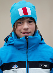 Luka Pintaric, nordic combined athlete during presentation of Team Slovenia for 1st Winter Youth Olympic Games in Innsbruck, Austria from 13 to 22 January 2012, on January 4, 2012 in Bled, Slovenia. (Photo By Vid Ponikvar / Sportida.com)