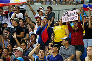 Philippines fans during the Australia v Philippines, 1st Round, Group B, Asian Qualifier at the Margaret Court Arena, Melbourne, Australia on 22 February 2018. Picture by Martin Keep.