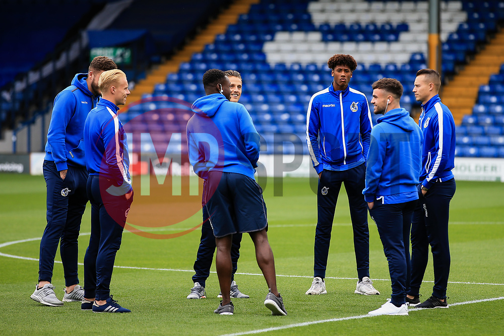 Bristol Rovers goalkeeper Alexis Andre Jr checks out the pitch with team mates - Mandatory by-line: Matt McNulty/JMP - 19/08/2017 - FOOTBALL - Gigg Lane - Bury, England - Bury v Bristol Rovers - Sky Bet League One