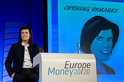 © Licensed to London News Pictures.<br /> 27/06/2017<br /> Nicola De Cogan, Lloyds Banking Group introduces a session Banking (R)evolution at The Money 20/20 Europe exhibition held at The Bella Centre in Copenhagen, Denmark,  June 27th 2017<br /> The Money 20/20 Europe exhibition is the largest FinTech event in Europe and show cases new and emerging technologies in the financial sector<br /> Photo credit should read Ant Upton/LNP