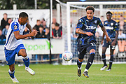 Leeds United midfielder Helder Costa (17) in action during the Pre-Season Friendly match between Guiseley  and Leeds United at Nethermoor Park, Guiseley, United Kingdom on 11 July 2019.