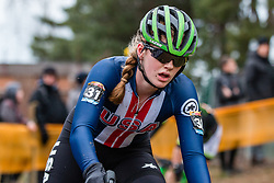 ZOERNER Lauren (USA) during Women Elite race, 2019 UCI Cyclo-cross World Cup Heusden-Zolder, Belgium, 26 December 2019. <br /> <br /> Photo by Pim Nijland / PelotonPhotos.com <br /> <br /> All photos usage must carry mandatory copyright credit (Peloton Photos | Pim Nijland)