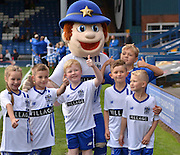 all mascots together before the Sky Bet League 1 match between Bury and Rochdale at Gigg Lane, Bury, England on 17 October 2015. Photo by Mark Pollitt.