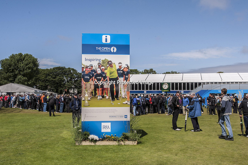 18-07-2012 European Tour 2012, THE 141st OPEN Championship, Royal Lytham & St. Annes GC, Lytham St. Annes, Lancashire, England, UK. 15- 22 Jul. Billboards during the practice round.