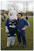 Sale Sharks Premier rugby camp at Wilmslow. 12-04-2006. Pics with Mascot