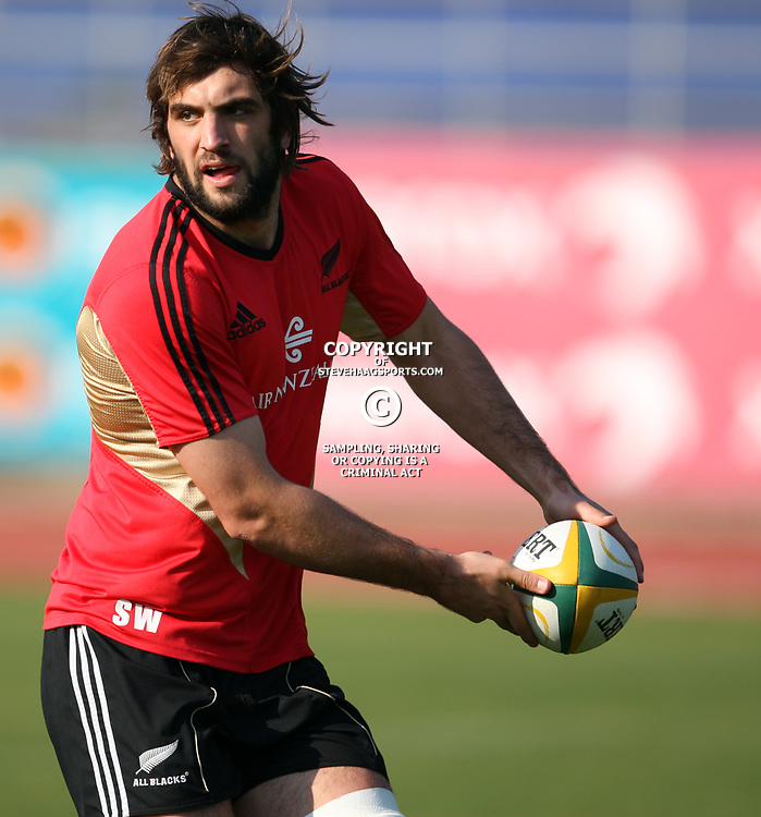 PORT ELIZABETH, SOUTH AFRICA - AUGUST 18, Samuel Whitelock  during the New Zealand national rugby team training session at Xerox Arena on August 18, 2011 in Port Elizabeth, South Africa<br /> Photo by Steve Haag / Gallo Images