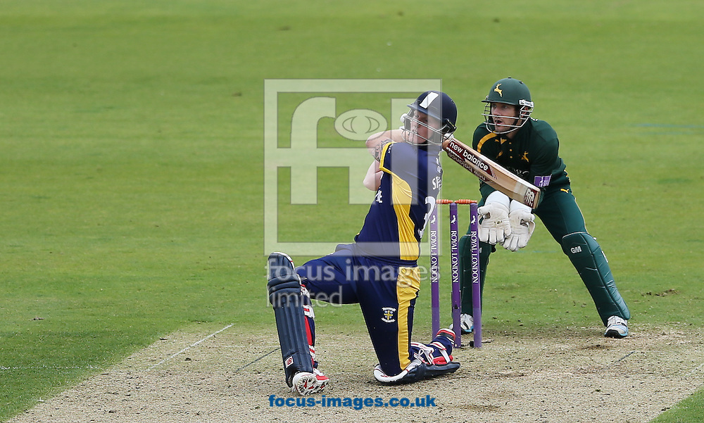 Ben Stokes of Durham County Cricket Club batting during the Royal London One Day Cup match at Emirates Durham ICG, Chester-le-Street<br /> Picture by Simon Moore/Focus Images Ltd 07807 671782<br /> 06/09/2014