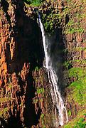 Waipo'o Falls in Waimea Canyon, Island of Kauai, Hawaii