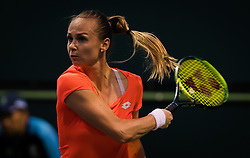 March 6, 2019 - Indian Wells, USA - Magdalena Rybarikova of Slovakia in action during the first round at the 2019 BNP Paribas Open WTA Premier Mandatory tennis tournament (Credit Image: © AFP7 via ZUMA Wire)