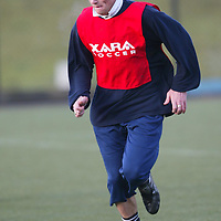 St Johnsone training....05.12.03<br />Ryan Stevenson during training this morning hopeful for a place in the starting line up v Ross County tomorrow after featuring at Ibrox on Wednesday.<br />see story by Gordon Bannerman Tel 01738 553978<br />Picture by Graeme Hart.<br />Copyright Perthshire Picture Agency<br />Tel: 01738 623350  Mobile: 07990 594431