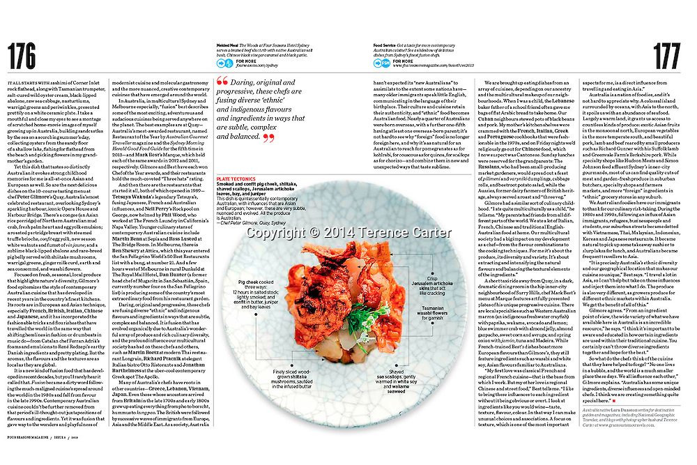 Four Seasons Magazine Feature on Australian food.