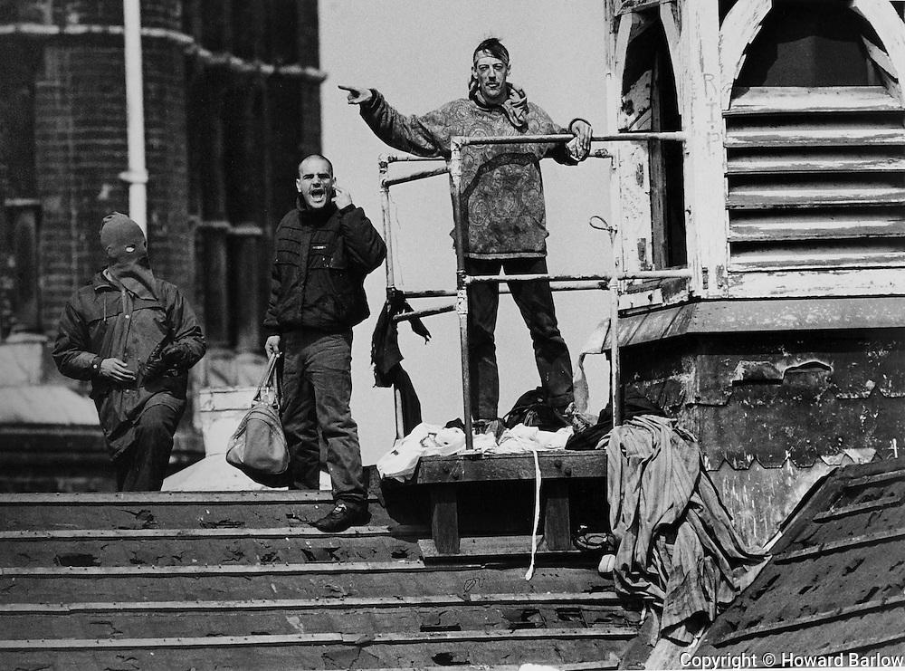 April 1990 - Manchester UK<br /> Strangeways prison riot