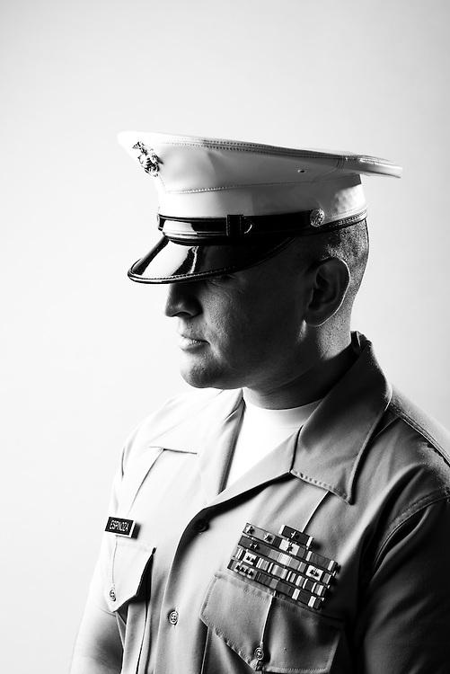 Jonathan Espimar<br /> Marine Corps<br /> E-6<br /> Infantry<br /> Pakistan, Kuwait, UAE, OEF, OIF<br /> June 16, 2003 - Present<br /> <br /> Veterans Portrait Project<br /> El Paso, TX