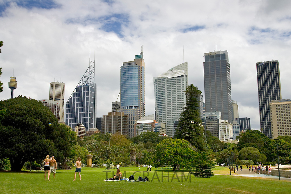 View of the Sydney skyline from the Royal Botanical Gardens, Australia