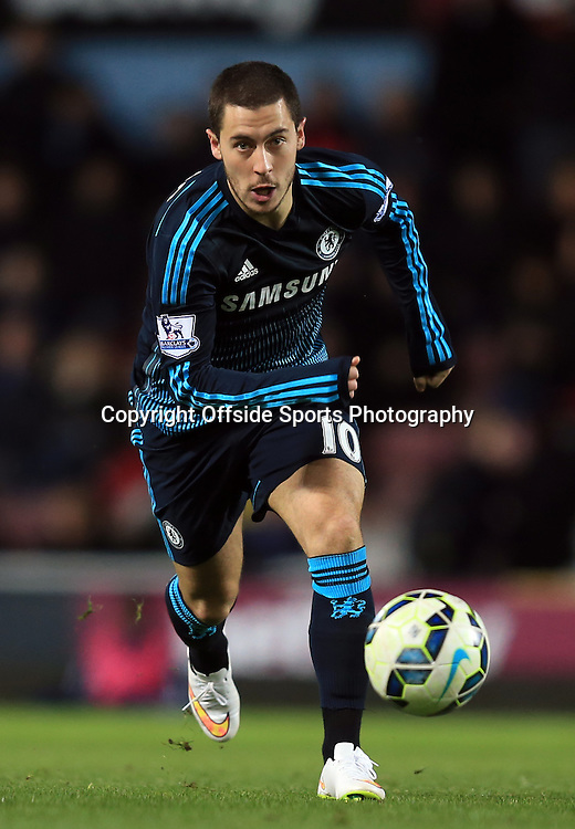4 March 2015 - Barclays Premier League - West Ham United v Chelsea - Eden Hazard of Chelsea - Photo: Marc Atkins / Offside.