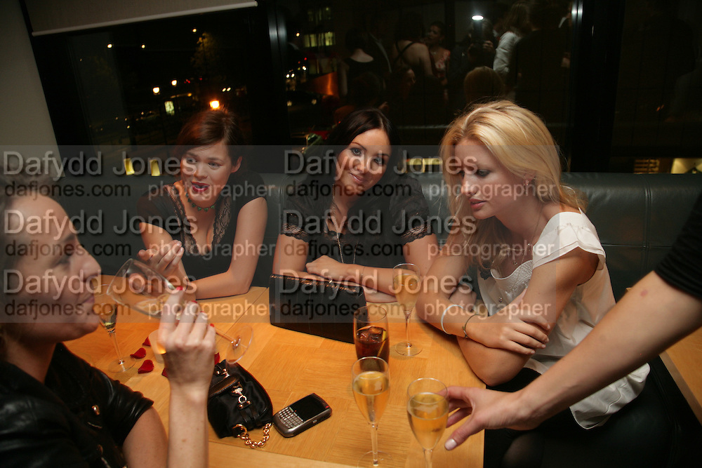 Jasmine Guinness, Martine McCutcheon and Lainey Sheridan-Young, The Eve Appeal Dinner, Nobu London,  Dinner in aid of Eve Appeal, Gynaecology Cancer Research Fund, 3 September 2007. -DO NOT ARCHIVE-© Copyright Photograph by Dafydd Jones. 248 Clapham Rd. London SW9 0PZ. Tel 0207 820 0771. www.dafjones.com.