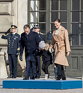 Stockholm , 12-03-2017 <br /> <br /> Crown Princess Victoria celebrates her Name Day with Prince Daniel and their children Princess Estelle and Prince Oscar.<br /> <br /> PUBLICATION ONLY IN FRANCE<br /> <br /> COPYRIGHT: ROYALPORTRAITS EUROPE/ BERNARD RUEBSAMEN